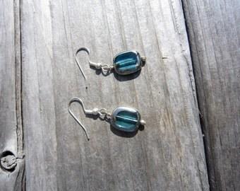 Metallic Glass Earrings