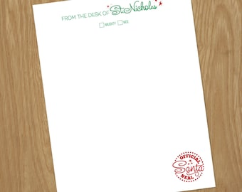 Official Santa Letterhead INSTANT DOWNLOAD