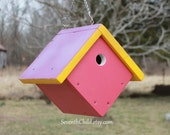 Wren Birdhouse - Painted Solid Pine Construction