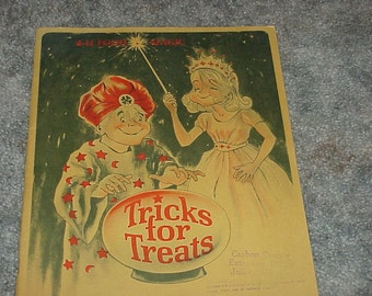 Vintage--4-H Food Magic Manual--Tricks For Treats--Fun With Foods Project--1960's--Recipes--Cookbook