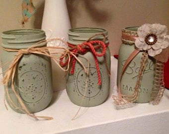 3 pc Pint Mason jar set