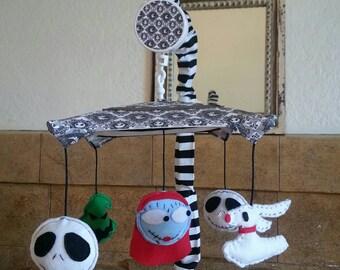 Nightmare Before Christmas Crib Mobile - 5 figures