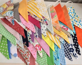 Extra Long Bunting / fabric garland / banner - 30ft Long, weddings, parties, decoration