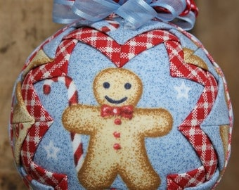 Gingerbread Man Quilted Ornament