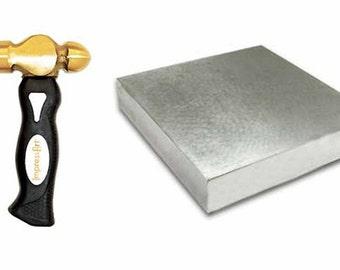 ImpressArt 1lb Stamping Hammer OR 4x4 Steel Stamping Block  - Impress Art Tools for Jewelry Stamping Metal Stamping