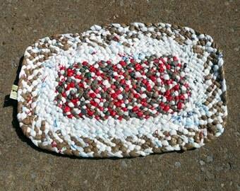 Multi colored  Plastic Bag Outdoor Rug