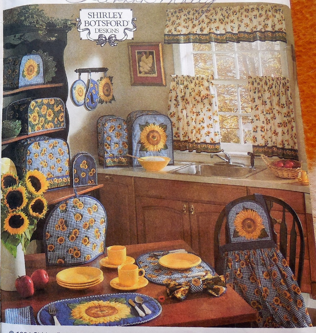 Simplicity 8880 8693 sunflower themed home decor items for Best selling home decor etsy
