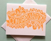 Congratulations Flowers Greeting Card