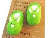 Bunny Message Board Magnets - Cute Bunny Slipper Magnet Set - Magnetic Message Board