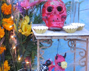 Day of the Dead Shrine at Hollywood Cemetary-  A 5x7 Fine Art Photograph