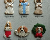BEAGLE dog porcelain ornaments, created by Nicole, free personalizing, many styles from pull down menu