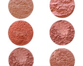 Mineral Makeup Blush Samples • Natural Vegan and Gluten-Free Makeup • Handmade Mineral Blush • Earth Mineral Cosmetics