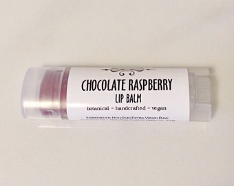 Chocolate Raspberry Tinted Lip Balm • Lip Balm • Vegan Lip Tint • Natural Chapstick