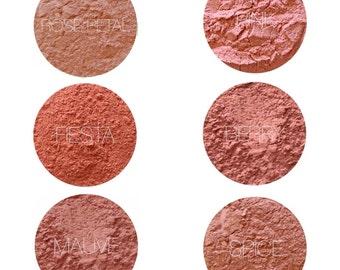 Mineral Makeup Blush Samples • Natural Vegan and Gluten-Free Makeup • Handmade Mineral Blush • Earth Mineral Cosmetics