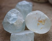 Blue Topaz Stone Lot // Set of 4 Healing Stones // Crystal Grid // Wicca Crystals // Altar Stones // Chakra Crystals // Healing Crystals