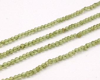 1 Strand Peridot 3 Mm Gemstone Round Beads G196 T09