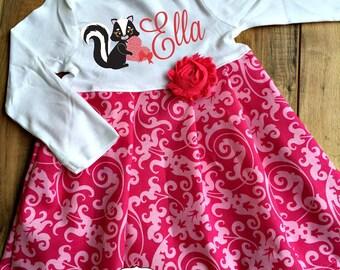 Valentine's Day Skunk Dress - Personalized Dress