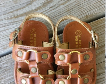 Brown Baby Sandals by Darling Size 2