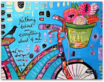 Everything Ahead - Bike with Flower Basket - Art by Regina Lord