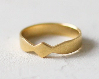 14k Gold Wide Bow Ring, Engagement Ring. Bow Shaped Ring. 14K Solid Gold. Dainty Stackable Wedding Ring, Promise, Anniversary