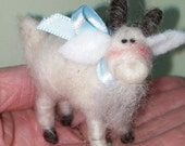 """Mountain Goat Felted 3"""" Ornament - NEW"""