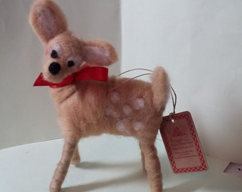 Bambi Felted Wool Ornament
