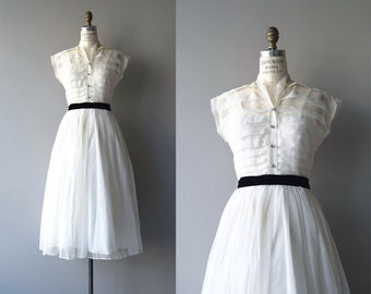 Speak, Memory dress | vintage 1950s dress | ivory 50s dress