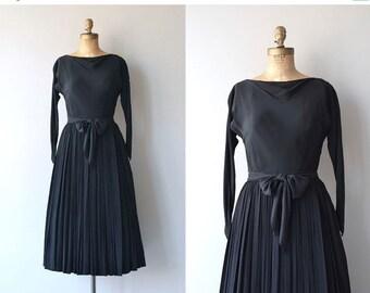 25% OFF SALE Claire McCardell dress   vintage 1950s dress   black 50s dress