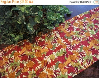 July Sale Table Runner Fall Foliage Autumn Leaves Padded