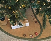 Extra Large Christmas Tree Skirt - All Tailored, Buttoned-Up - Pick Your Banding and Buttons