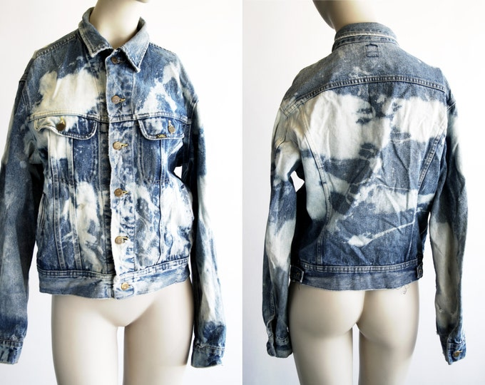 Featured listing image: Vintage Lee Jeans Worn out Rock and Roll Bleached Up Unisex Denim Jacket