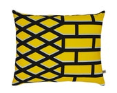 Jali Pop Screen-Printed cushion