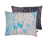 Painter Pink/Navy Screen-Printed cushion