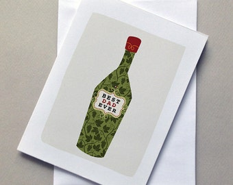 Father's Day Wine Card, Wine, For Dad, Father
