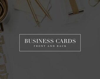 Matching Business Card Design