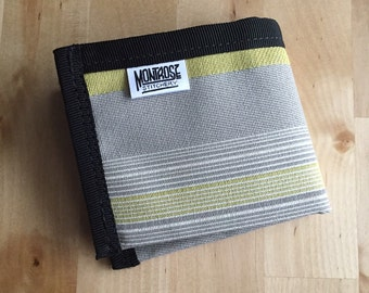 Fabric And Bike Tube Billfold Wallet