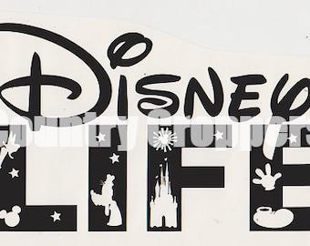 Disney Life Decal Etsy - Disney custom vinyl decals for car