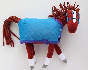 Purple Eyed Pony - Chestnut/ blue blanket