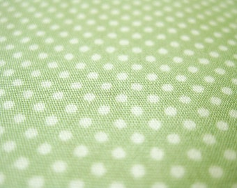 SALE Japanese Cotton Fabric - Dusty Green Tiny Dots - Fat Quarter