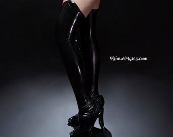Super Hero LATEX Stockings, made to measure
