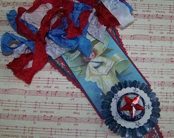 July 4th Decoration 4th of July Vintage Style Wall Hanging Plaque Banner Decoration