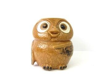 Owl Cookie Jar McCoy Planter Mid Century Retro Animal Vase Home Decor