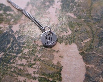 The June Necklace - ASL I Love You Necklace