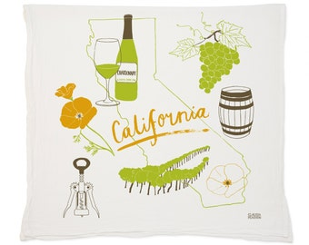 California Wine Tea Towel