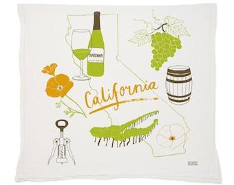 California Wine Tea Towel