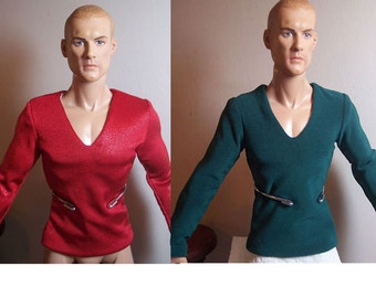 Set of Two Knit Shirts for 17.5 inch Tonner Athletic Body/Superhero Male Dolls