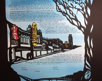 Ann Arbor Papercut ketubah and Signature Page