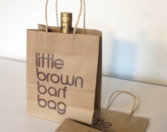 Little Brown Barf Bag, unlimited edition screenprint