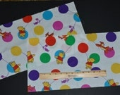 POOH FABRIC PIECES! For Quilting - Clothing Accents / Two 18 by 10 Inch Pieces / Tigger - Piglet