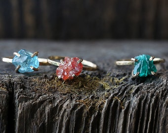 Raw Gemstone Rings